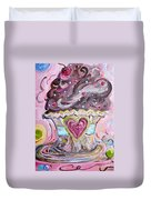 My Lil Cupcake - Chocolate Delight Duvet Cover by Eloise Schneider