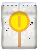 My Nintendo Ice Pop - Gold Coin Duvet Cover by Chungkong Art
