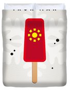 My Superhero Ice Pop - Iron Man Duvet Cover by Chungkong Art