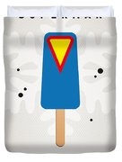 My Superhero Ice Pop - Superman Duvet Cover by Chungkong Art