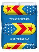 My SUPERHERO PILLS - Wonder woman Duvet Cover by Chungkong Art