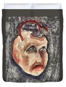 Nagging Doubts Duvet Cover by Michal Boubin