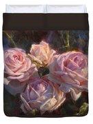 Nana's Roses Duvet Cover by Karen Whitworth