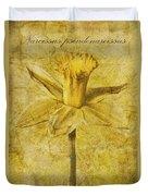 Narcissus Pseudonarcissus Duvet Cover by John Edwards