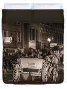 Nashville Carriage Ride Duvet Cover by John McGraw