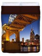 Nashville Tennessee Duvet Cover by Brian Jannsen