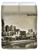 Nashville Tennessee Duvet Cover by Dan Sproul