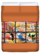 native Texas wildflowers B Duvet Cover by Michael Dillon