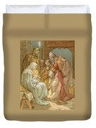 Nativity Duvet Cover by John Lawson