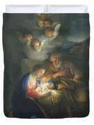 Nativity Scene Duvet Cover by Anton Raphael Mengs