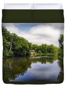Nature Center On Salt Creek Duvet Cover by Thomas Woolworth