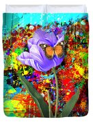 Nature Vs Caos Duvet Cover by Gary Grayson