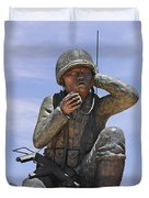 Navajo Code Talkers - Navajo People Duvet Cover by Christine Till