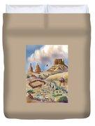 Navajo Sheepherder - Age 11 Duvet Cover by Dawn Senior-Trask