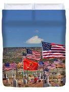 Navajo Veteran's Memorial Cemetery Tsehootsooi Duvet Cover by Christine Till