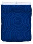 Navy Blue Abstract Duvet Cover by Frank Tschakert
