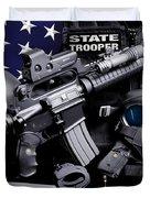 Nebraska State Patrol Duvet Cover by Gary Yost