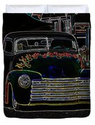Neon 1948 Chevy Pickup Duvet Cover by Steve McKinzie