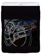 Neon 1957 Chevy Dash Duvet Cover by Steve McKinzie