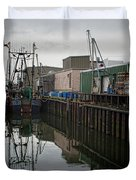 New Bedford Waterfront No. 4 Duvet Cover by David Gordon