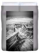 New Buffalo Michigan Boardwalk And Beach Duvet Cover by Paul Velgos