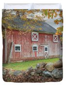 New England Barn Square Duvet Cover by Bill  Wakeley