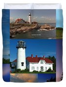 New England Lighthouse Collection Duvet Cover by Juergen Roth