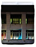 New Orleans Late Night Duvet Cover by Christine Till
