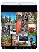 New Orleans Duvet Cover by Steve Harrington