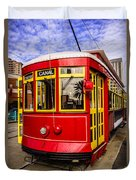 New Orleans Streetcar  Duvet Cover by Paul Velgos