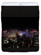 New Year Fireworks IIi Duvet Cover by Ray Warren