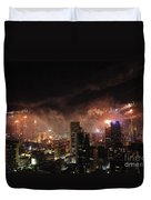 New Year Fireworks Duvet Cover by Ray Warren