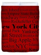New York City Duvet Cover by Denyse and Laura Design Studio