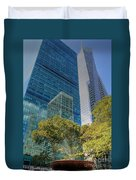 New York City Reflections Duvet Cover by Bob Hislop