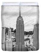New York City Skyline - Lego Duvet Cover by Edward Fielding