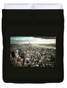New York From Above - Vintage Duvet Cover by Hannes Cmarits