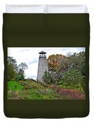 New York Lighthouse Duvet Cover by Frozen in Time Fine Art Photography