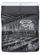 New York Public Library Main Reading Room X Duvet Cover by Clarence Holmes