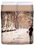New York Rain - Greenwich Village Duvet Cover by Vivienne Gucwa