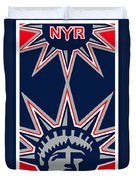 New York Rangers Duvet Cover by Tony Rubino