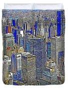 New York Skyline 20130430v2 Duvet Cover by Wingsdomain Art and Photography