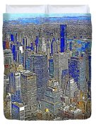 New York Skyline 20130430v4-square Duvet Cover by Wingsdomain Art and Photography