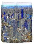 New York Skyline 20130430v4-square Duvet Cover by Wingsdomain Art and Photography