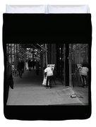 New York Street Photography 26 Duvet Cover by Frank Romeo