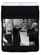 New York Street Photography 27 Duvet Cover by Frank Romeo