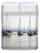 Newport Beach Bay Harbor California Duvet Cover by Paul Velgos