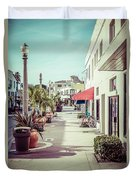 Newport Beach Main Street Balboa Peninsula Picture Duvet Cover by Paul Velgos