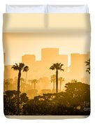 Newport Beach Skyline Morning Sunrise Picture Duvet Cover by Paul Velgos