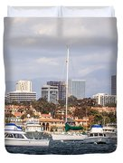 Newport Beach Skyline  Duvet Cover by Paul Velgos