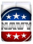 Nice Navy Shield Duvet Cover by Pamela Johnson